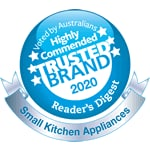 Readers Digest Highly Commended Trusted Brand Award 2020 - Small Kitchen Appliances