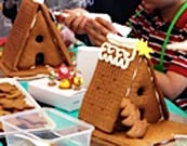 Gingerbread house decorating in the Kenwood Kitchen