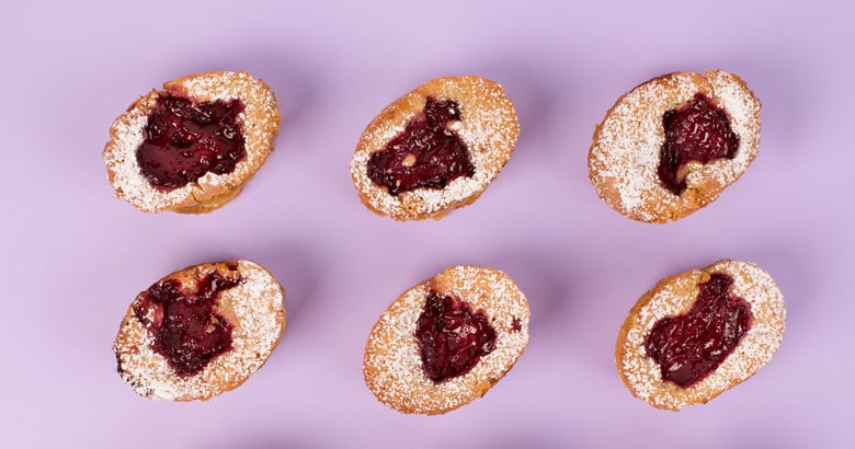 Plum and Coconut Friands