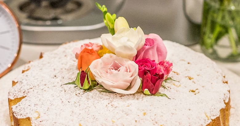 Mother's Day Apricot And Rose Cake With Fresh Roses Recipe for Kenwood by Jordan Rondel