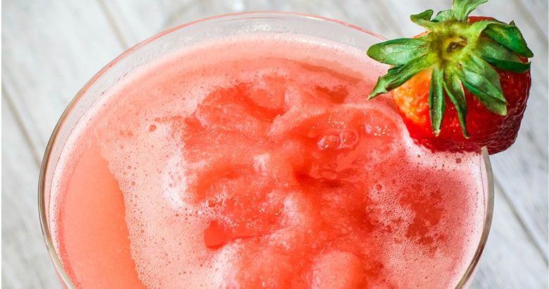 Strawberry, Mango and Lime Cocktail
