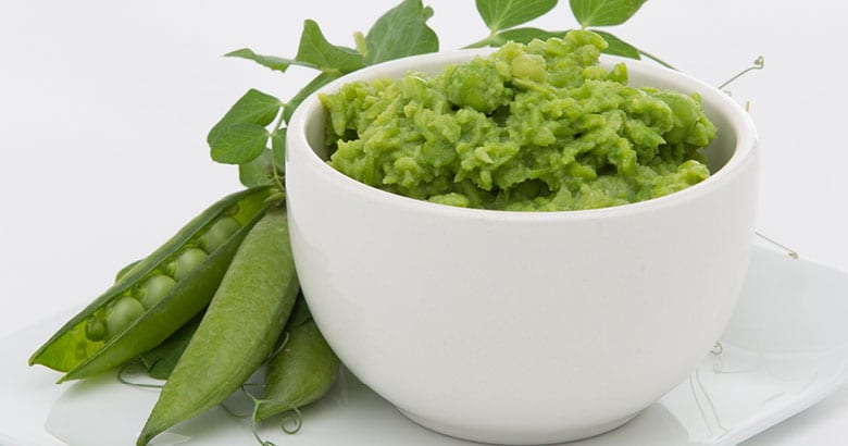 Smashed minted peas