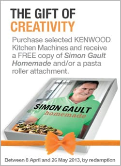 Bonus Simon Gault cook book offer