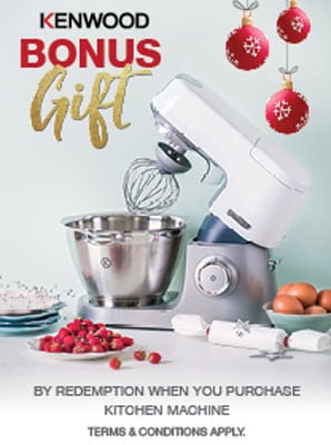 Kitchen Machine bonus attachments offer - dec 2016