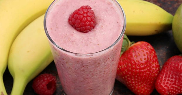 Receta de Smoothie de platano y frambuesas | Cooking chef de kenwood