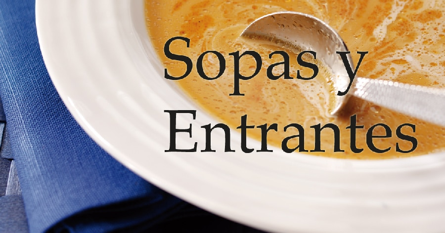 Sopas y entrantes Cooking Chef