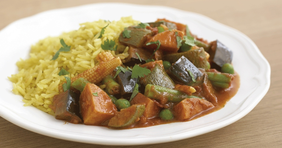 Receta de curry vegetariano con kCook | Kenwood
