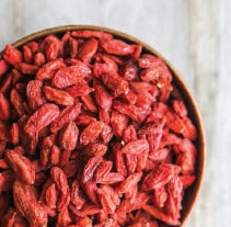 Goji berries contain unique compounds most often referred to as polysaccharides which enhance the body's ability to resist disease and support a healthy immune system. The berries are also a rich source of vitamin C and zinc, both of which are known to protect against disease and aid in recovery.