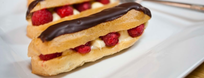 Choux pastry: Chocolate éclairs