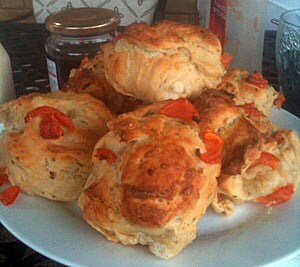 Sunblush Tomato, Rosemary and Garlic Rolls by Annabelle Bezant
