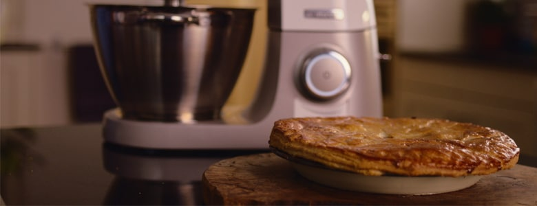 Lamb, pea and mint pie with rough puff pastry by Holly Bell