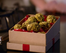 Cranberry and Pistachio Truffles by Caroline Taylor