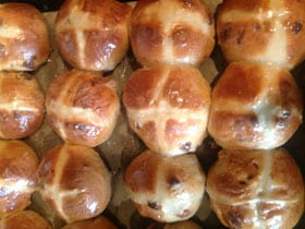 Hot cross buns by Helen Huxley