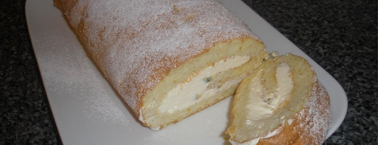 Orange and Passion Fruit Roulade by Lynn Furnival