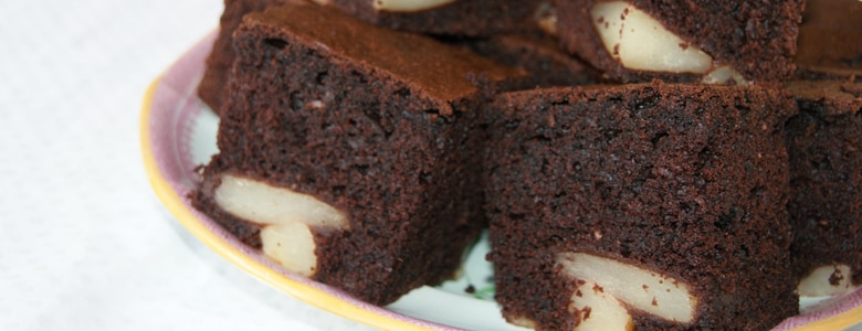 Pear & Chocolate Cake