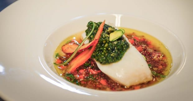 Bruce Sherman Quiona, Halibut & Pesto