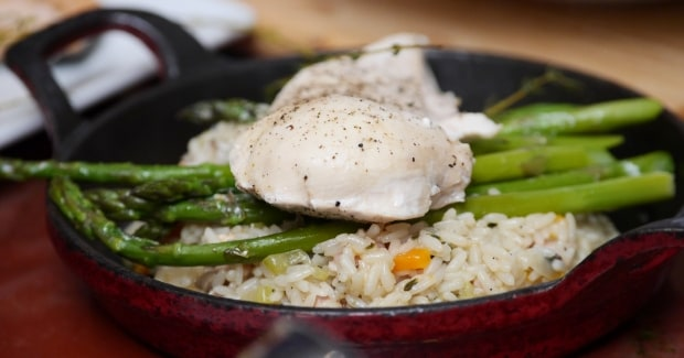 David Burke's Steamed Chicken with Dirty Rice