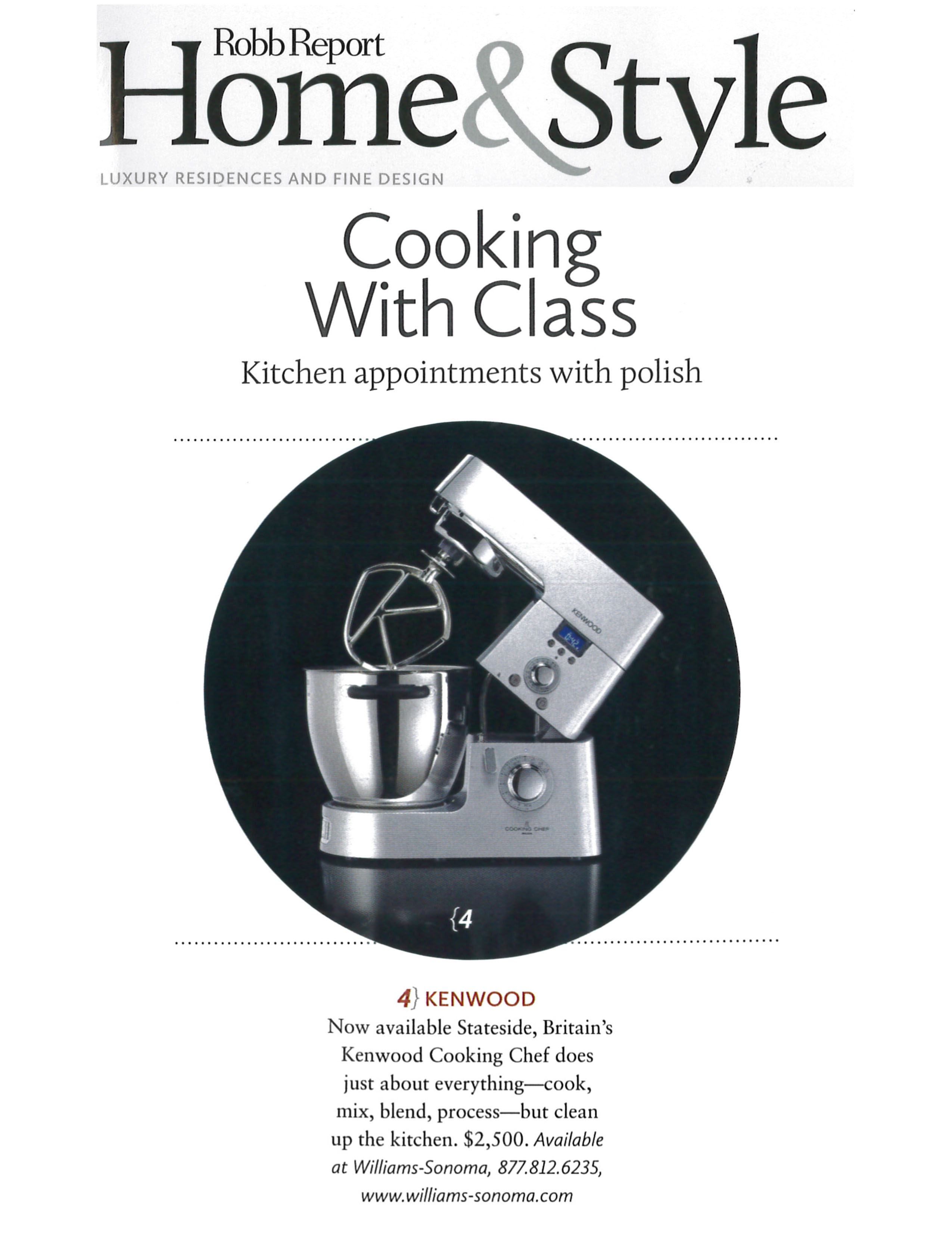 Cooking Chef in Robb Report