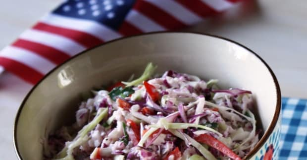 Red White and Blue Cole Slaw