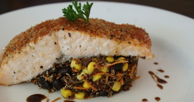 Steamed Salmon with Quinoa
