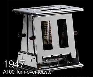 Turn-over toaster
