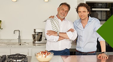 Raymond Blanc and his son, Olivier