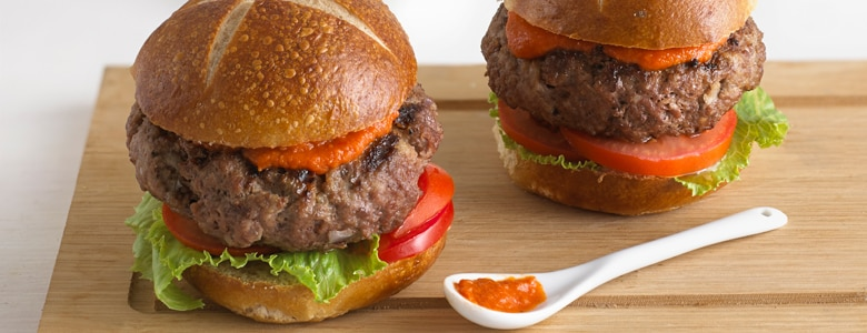 Burger with Tomato Sauce