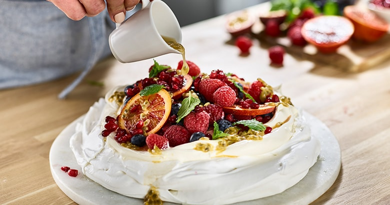 Winter Fruit Pavlova