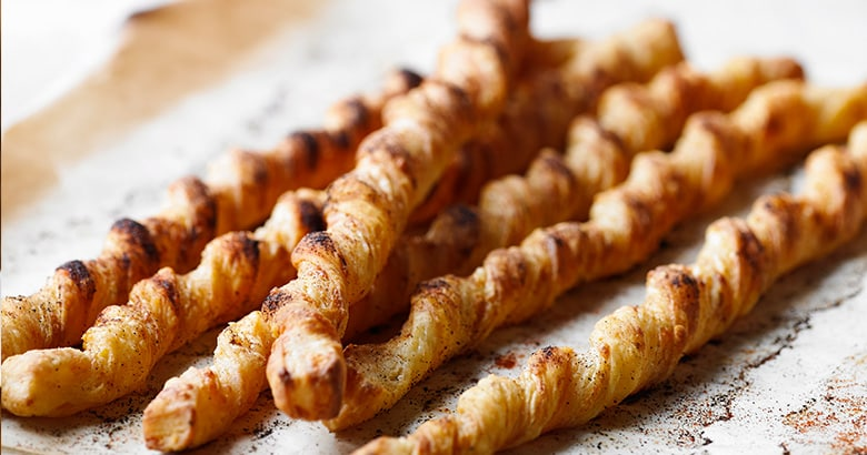 Cheese and Paprika Pastry Twists