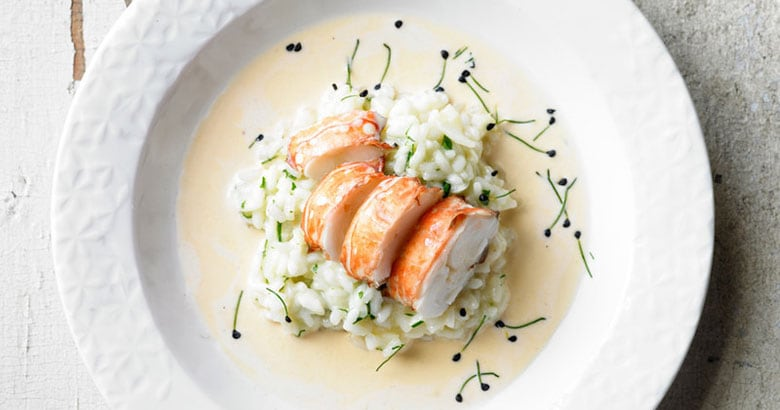 Lobster and Prosecco Risotto