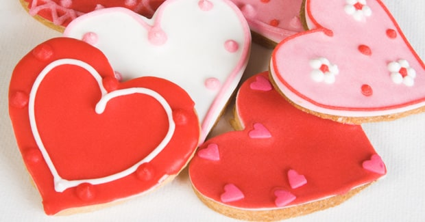 Heart Shaped Face Cookies