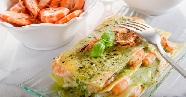 Prawn, Spinach and Cottage Cheese Lasagne