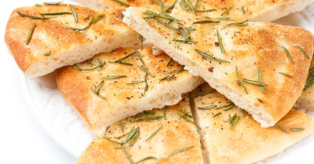Italian Focaccia Bread recipe from Kenwood UK for Chefs with timer