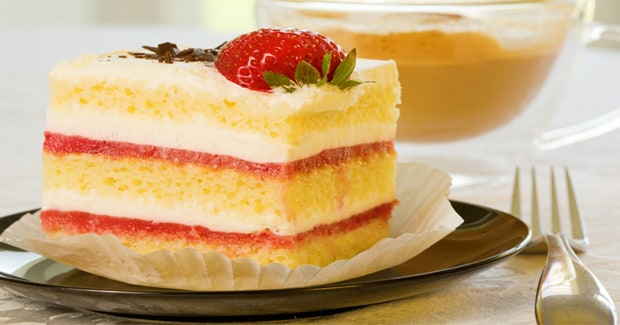 Strawberries and Cream Sponge