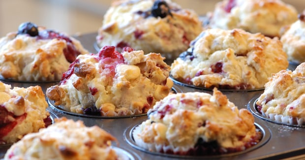 Raspberry and Blueberry Muffins
