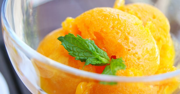 Tangerine Sorbet Recipe from Kenwood | Ice Cream Maker