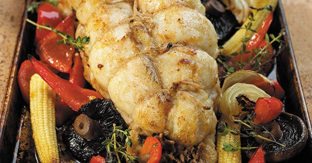 Stuffed Roast Monkfish Tails