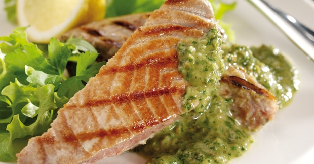 Tuna Steak with Salsa Verde
