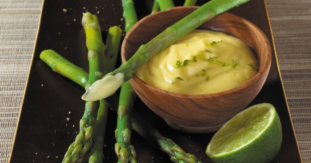 Asparagus with Lime Hollandaise Dressing