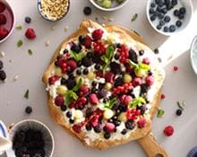 Gluten Free Winter Berry Pizza