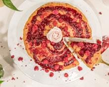 Double Layer Peanut Butter And Raspberry Cake