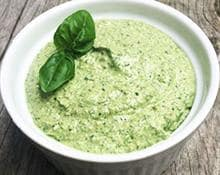 Green and great pasta sauce