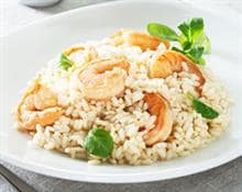 Prawn, leek and garlic risotto