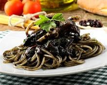 Squid Spaghetti and Shiso Salmon