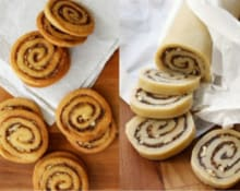 Cinnamon bun crunch icebox cookies