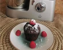 Muffin de chocolate vegano