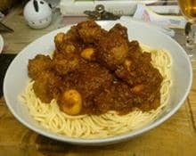Vegetarian meatballs and spaghetti by Kayleigh Beirne