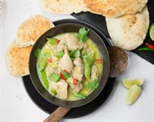 Gluten Free Thai Chicken Curry with Naan Bread