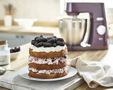 Triple Layer Blackberry Sponge Cake