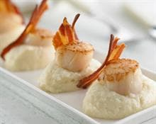 Cauliflower Purée with Scallops